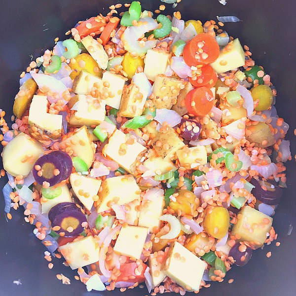 Lentil Root Vegetables Cabbage Salad