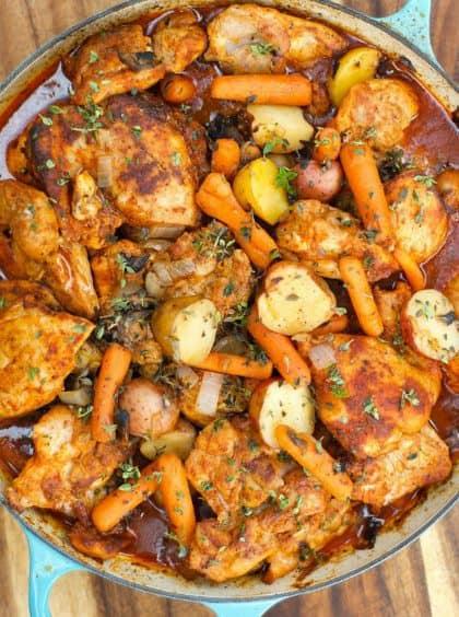 One-Pot Paprika Chicken Thighs
