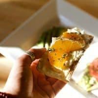 Orange Ricotta Sweet Potato Toast