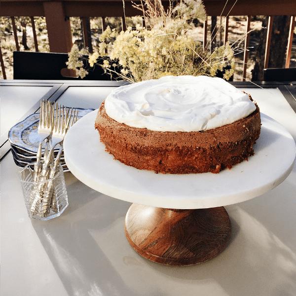 Cinnamon Apple Cream Cake for Fall Dinner Party