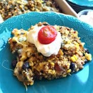 Chicken Quinoa Black Bean Bake from ReluctantEntertainer.com