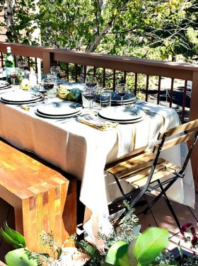 Mountain Home Fixer Upper with Ryobi Tools with DIY Wood Outdoor Bench