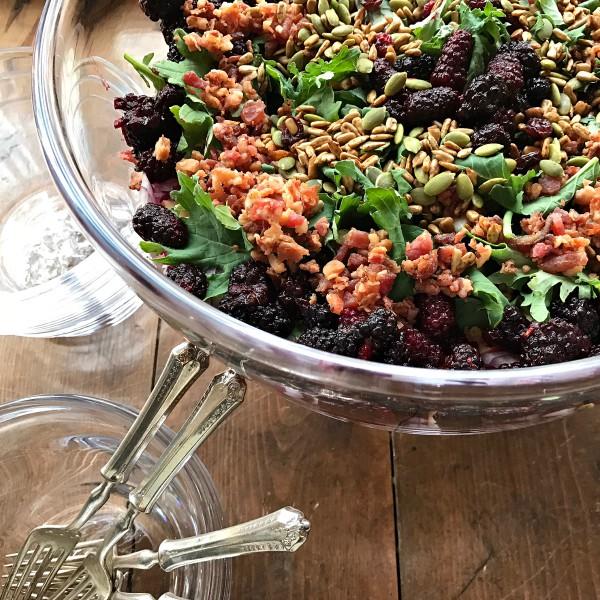 ... incorporate frozen blackberries or marionberries into your menu