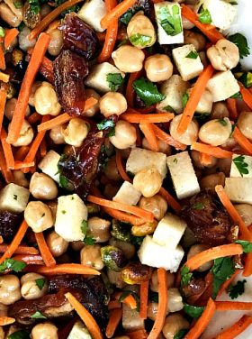 Garbanzo Carrot Date Salad