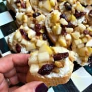 Pear Walnut Crostini Appetizer