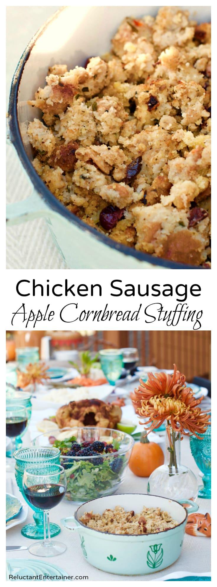 Chicken Sausage Apple Cornbread Stuffing
