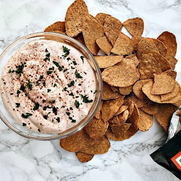 Creamy Cottage Cheese Salsa Dip