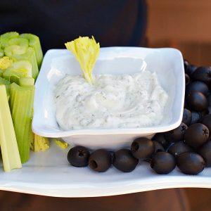 Holiday Cilantro Chive Greek Yogurt Dip at ReluctantEntertainer.com