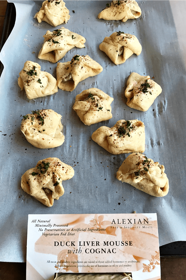 Duck Liver Mousse Crescents Recipe