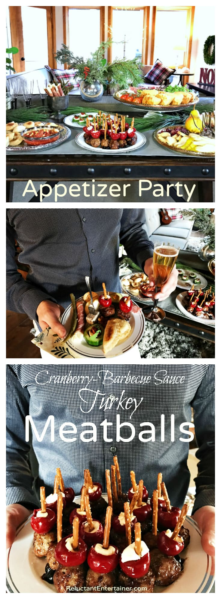 Cranberry-Barbecue Sauce Turkey Meatballs