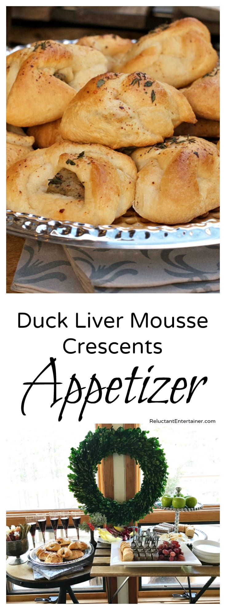 Duck Liver Mousse Crescents Appetizer
