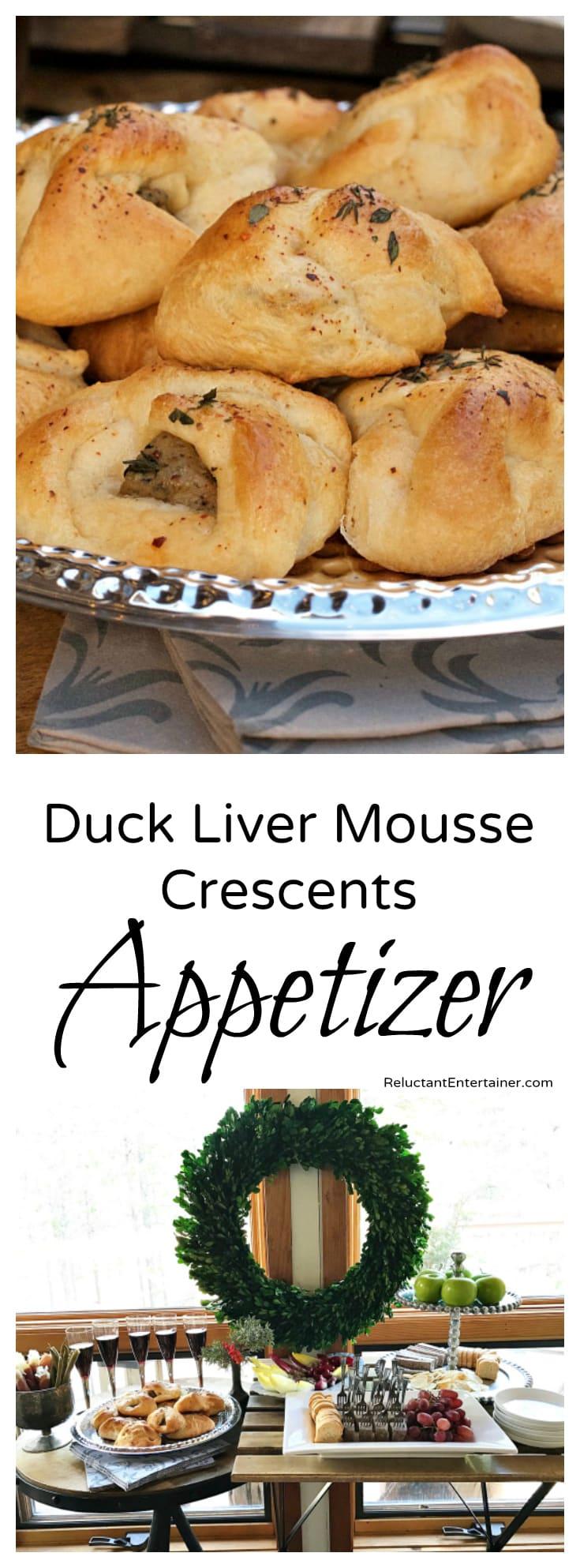 Duck Liver Mousse Crescents Appetizer