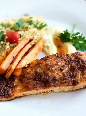 Middle-Eastern Baked Salmon Fillets