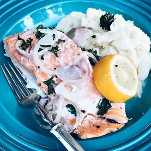 Skinnytaste's Slow Cooker Poached Salmon at ReluctantEntertainer.com