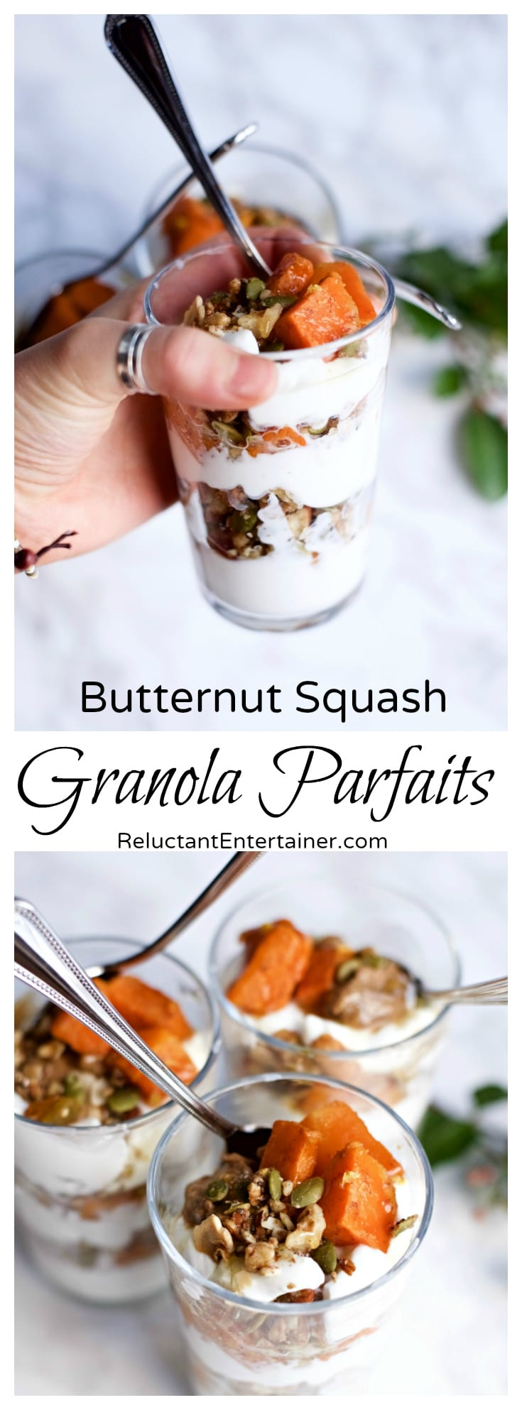 Butternut Squash Granola Parfaits