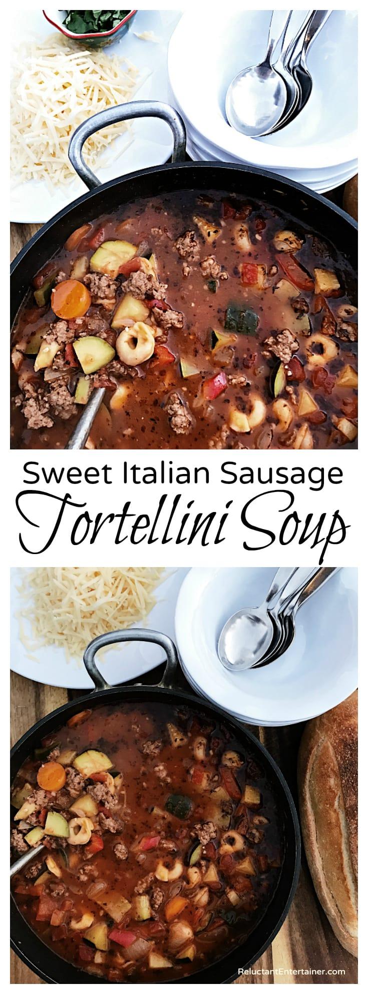 Sweet Italian Sausage Tortellini Soup Recipe Reluctant