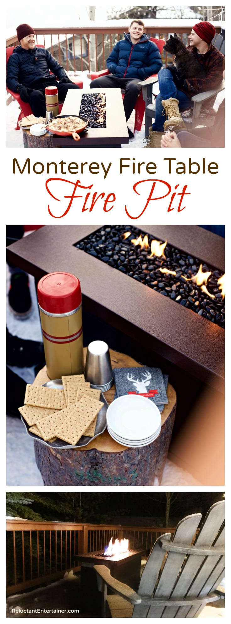 Monterey Fire Table with Skillet S'mores Recipe
