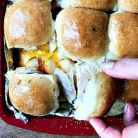 Turkey Cheddar Apple Sliders