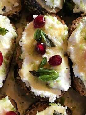 Honey-Lime Ricotta Bruschetta Recipe