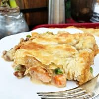 Cedar Planked Salmon Pot Pie