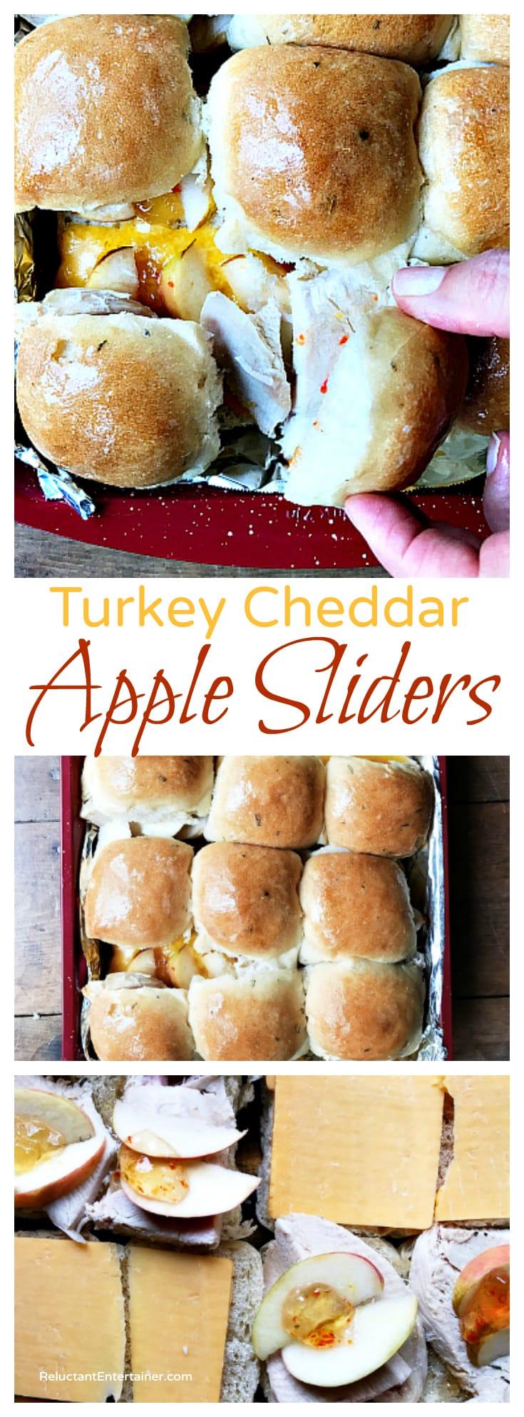 Turkey Cheddar Apple Sliders