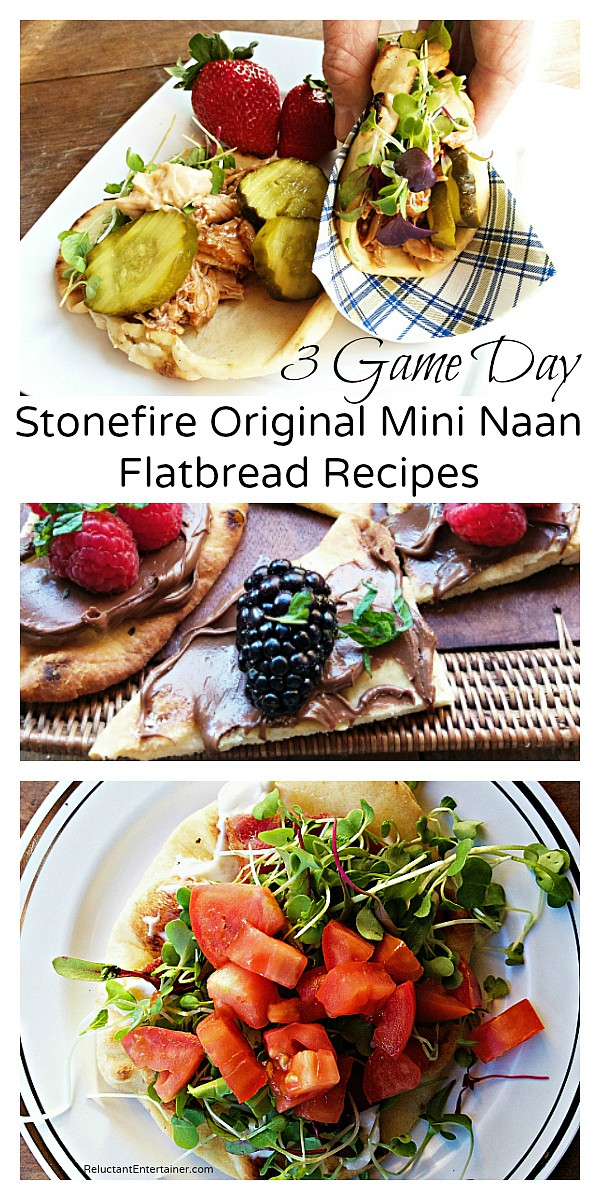 3 Game Day Recipes with Stonefire Original Mini Naan Flatbread Recipes