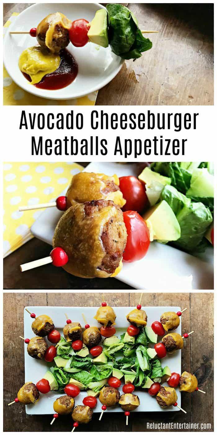 Avocado Cheeseburger Meatballs Appetizer Recipe