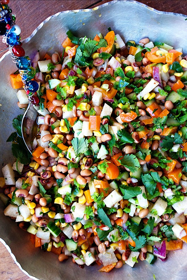 Blackeye Peas Jicama Cavier Salad Recipe
