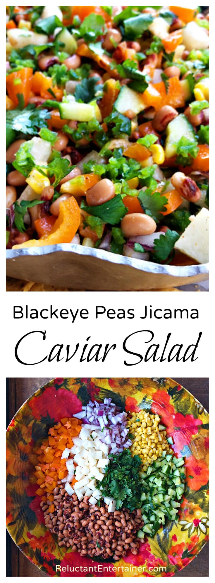 Blackeye Peas Jicama Caviar Salad Recipe