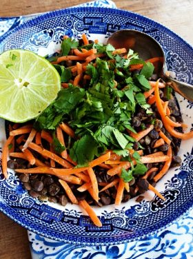Carrot Lentil Cilantro Salad with Lime Recipe
