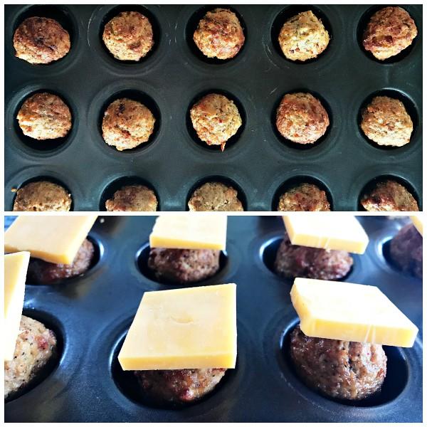 Avocado Cheeseburger Meatballs Appetizer - how to