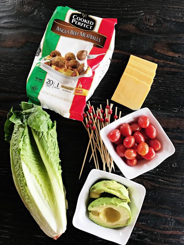 Avocado Cheeseburger Meatballs Appetizer - ingredients