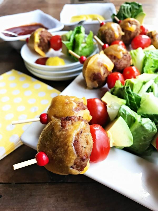 Avocado Cheeseburger Meatballs Appetizer