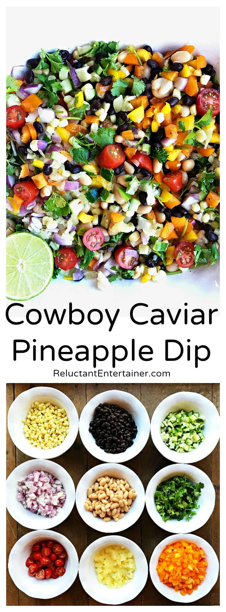 Cowboy Caviar Pineapple Dip