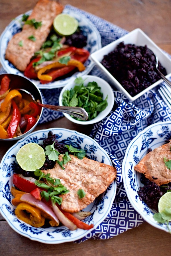 Baked Spiced Salmon with Coconut Milk Black Rice