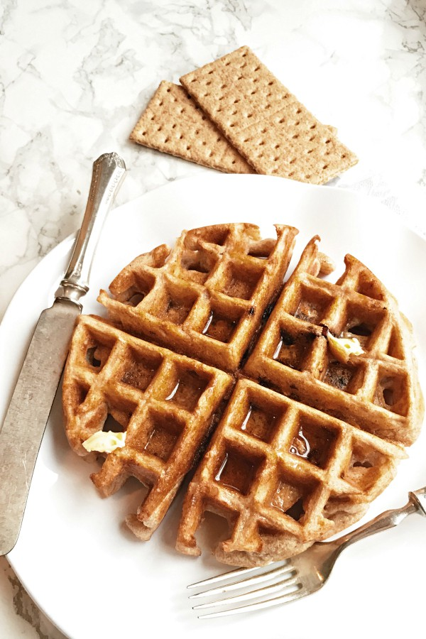 BEST Graham Cracker Whole Grain Waffles