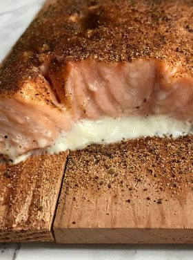 Baked Cedar Planked Salmon Recipe