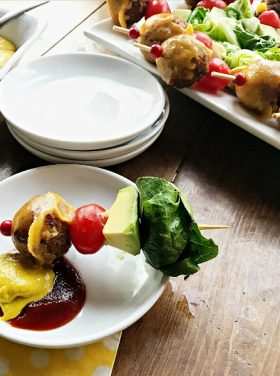 Avocado Cheeseburger Meatballs Appetizer