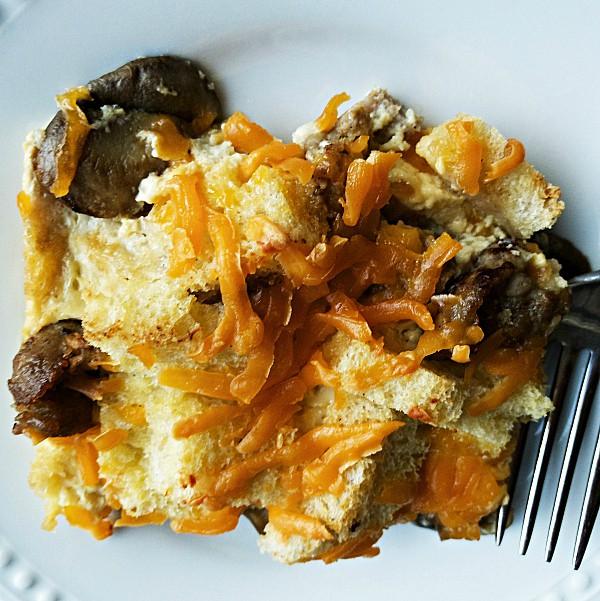 sausage mushroom strata recipe reluctant entertainer