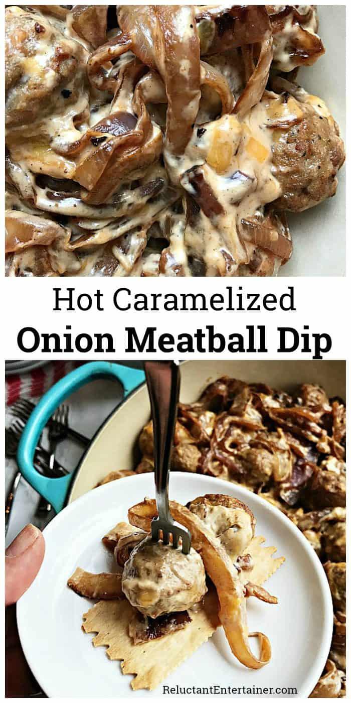 Hot Caramelized Onion Meatball Dip Recipe
