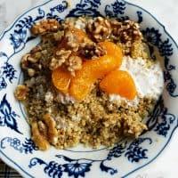 Coconut Mandarin Orange Quinoa Breakfast