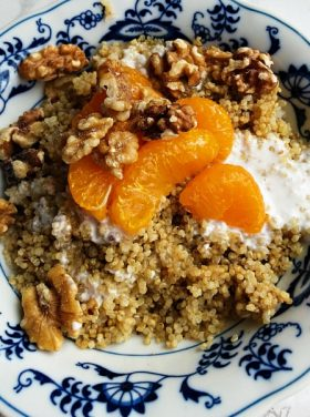 Coconut Mandarin Orange Quinoa Breakfast