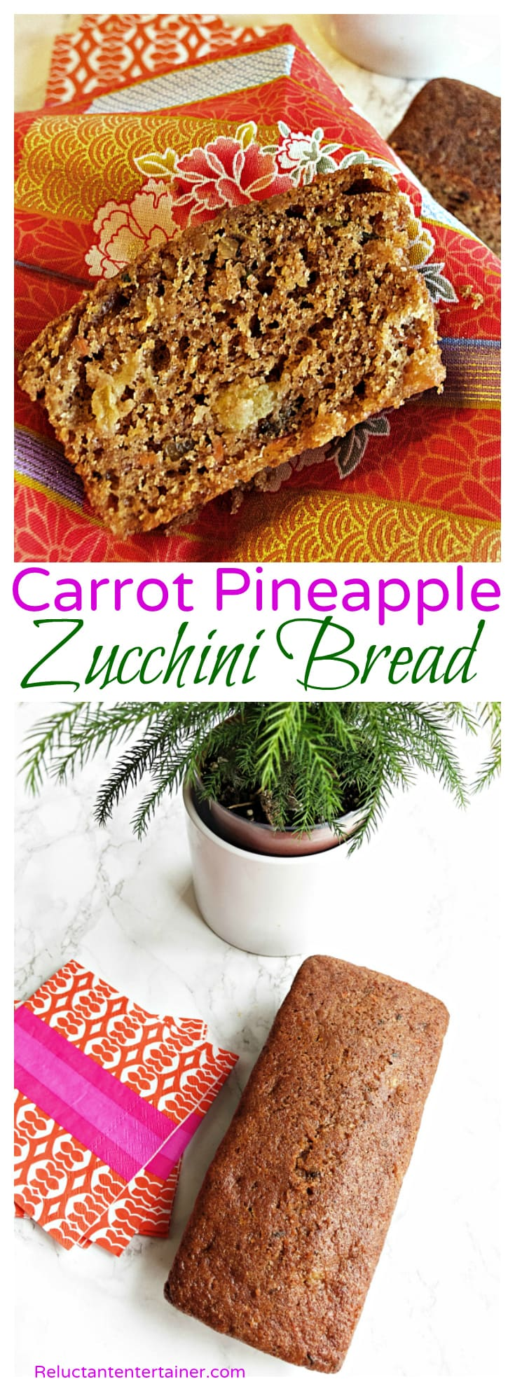 Carrot Pineapple Zucchini Bread Recipe