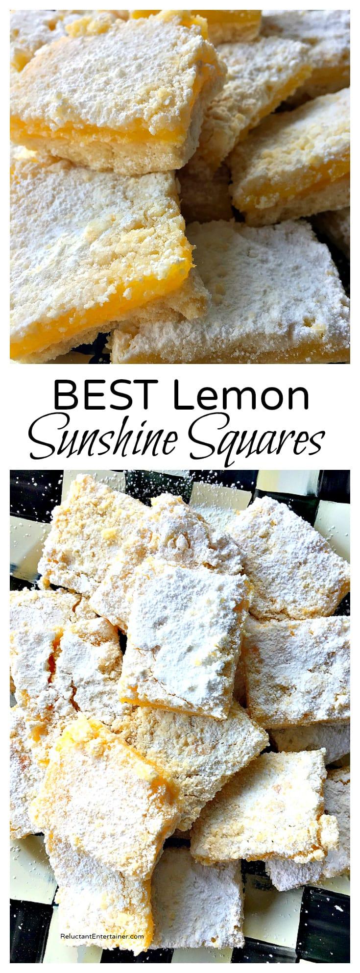 BEST Lemon Sunshine Squares Recipe