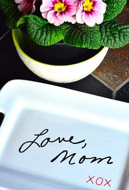 DIY Transfer Handwritig to a Plate