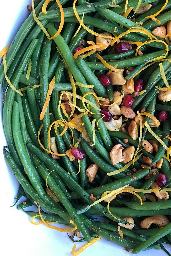 Cashew Green Beans with Orange Zest