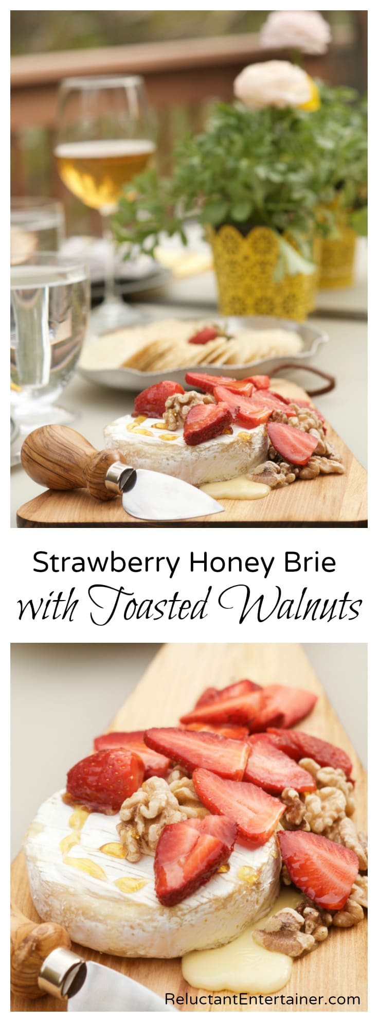 Strawberry Honey Brie with Toasted Walnuts