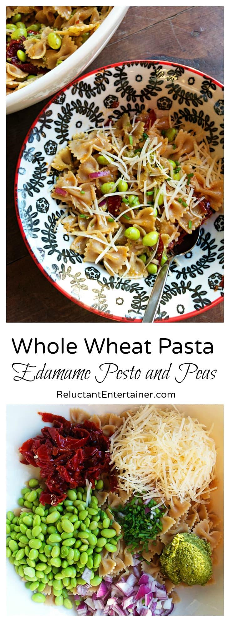 Edamame Pesto and Peas