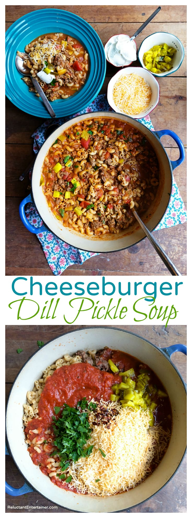 Cheeseburger Dill Pickle Soup Recipe