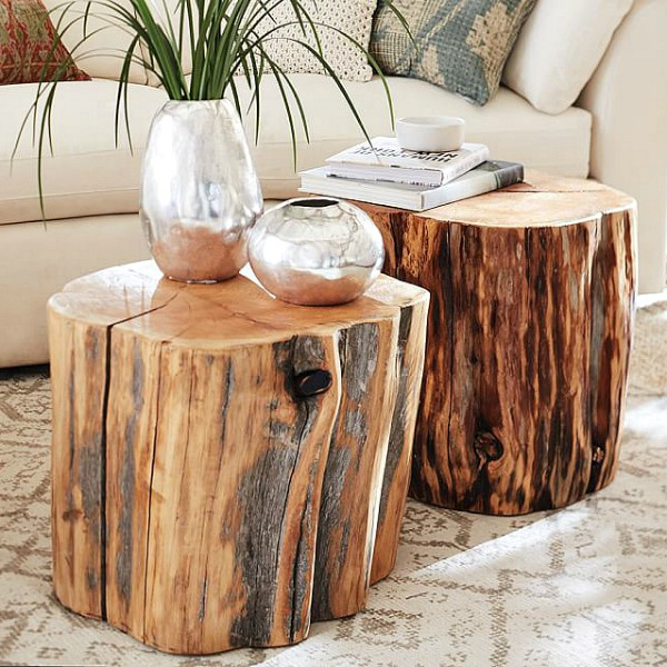 Superb How to Make a Pottery Barn Reclaimed Wood Stump Table